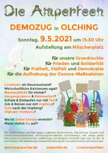 1. Demozug Olching 09.05.2021