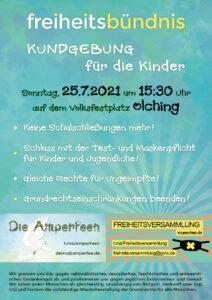 2. Freiheitsbündnis-Kundgebung am 25.07.2021 in Olching